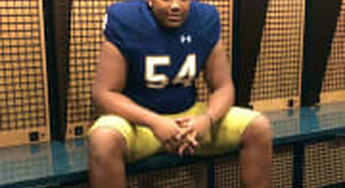 Notre Dame Lands Commitment From Elite 2021 OL Fisher