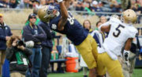 Chase Claypool Trying To Catch On Consistently On Notre Dame Wideout Corps
