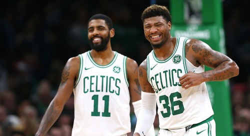 Kyrie Irving, Marcus Smart out tonight in Brooklyn