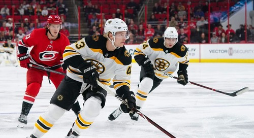Public Skate: Bruins head to Carolina for Game 3