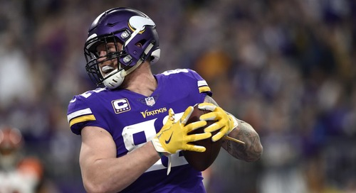 Patriots reportedly had trade talks about Vikings TE Kyle Rudolph