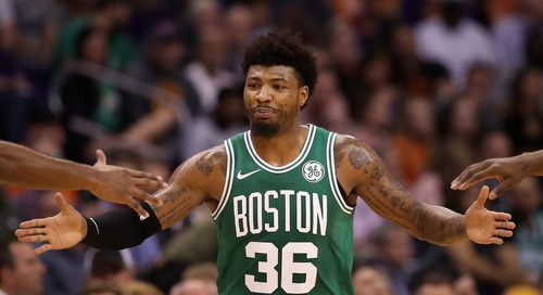 Marcus Smart sprains right ankle vs. Suns