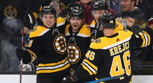 What do the Bruins' lines look like when hockey returns?