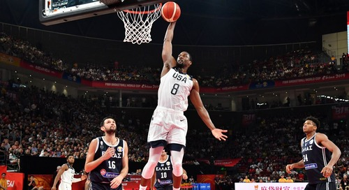FIBA World Cup: Giannis sits late as USA beat Greece 69-53