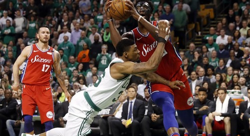 Marcus Smart ejected after shoving Joel Embiid