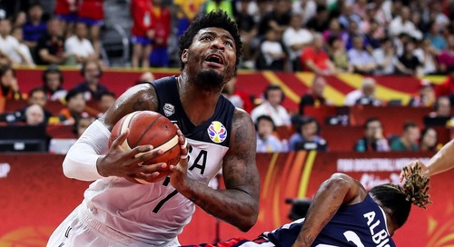 Report: Marcus Smart sidelined for remaining Team USA games