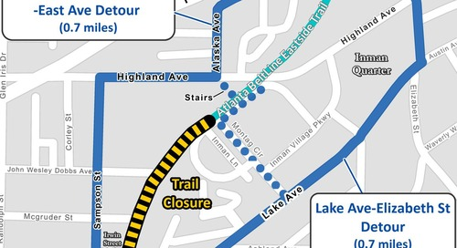 Sinkhole on Beltline's Eastside Trail shuts down high-traffic section of path