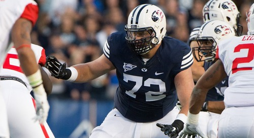 Patriots sign OT Ryker Mathews to a futures contract