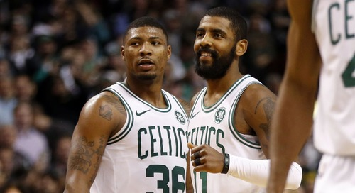 Marcus Smart, the stretch run, and lots of Kyrie Irving talk (links & quotes)