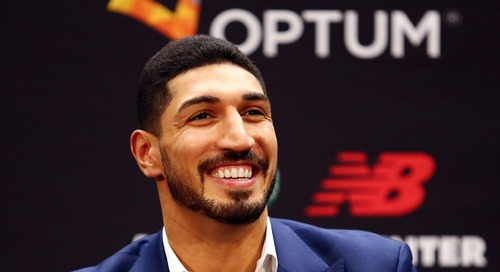 Enes Kanter's personality shining bright in his introduction with Celtics