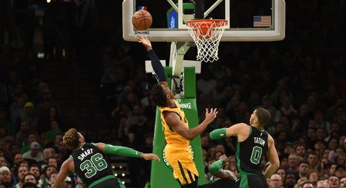 Out of gas Celtics beat handily by Jazz 98-86