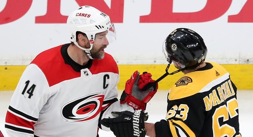 Bruins have completely gotten to Carolina Hurricanes captain Justin Williams