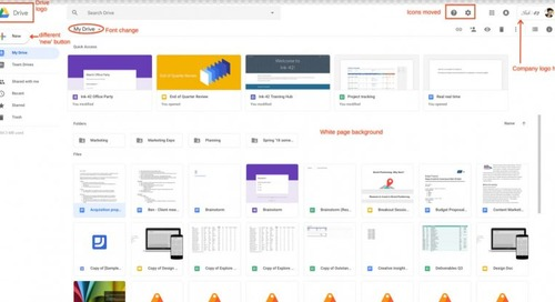 Google Drive gets a new look to match Gmail's redesign