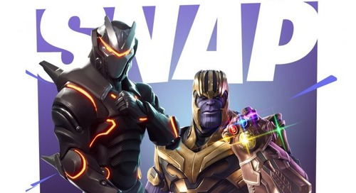 Worlds collide as Thanos arrives in Fortnite