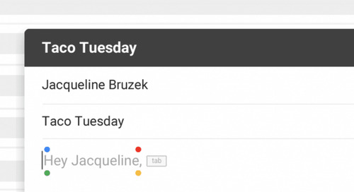 Gmail adds a predictive type feature called Smart Compose