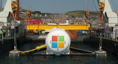 Microsoft just dropped 864 servers into the sea to run an underwater data center