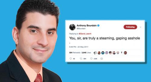 Twitter troll David Leavitt offers up a master class in how to be an asshole