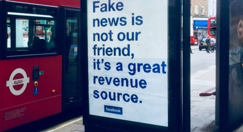 Heroic vandal massively improves Facebook's bus shelter adverts