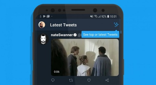 Twitter's Android app finally gets a chronological timeline button