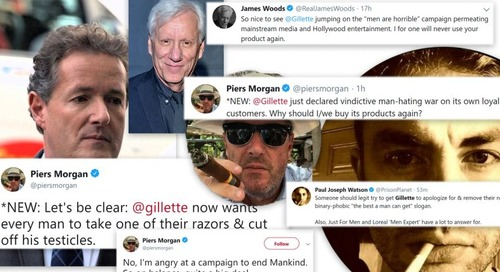 Gillette triggers Twitter's right-wing elite with 'toxic masculinity' ad