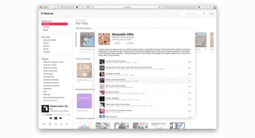 Use Apple Music in your browser with this pretty web interface