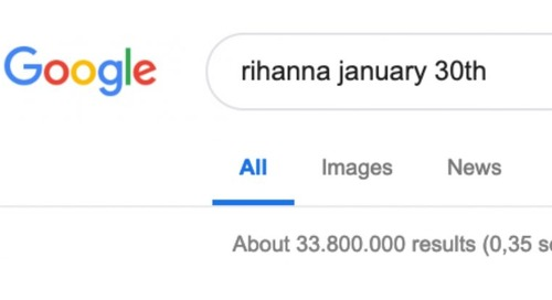 Something magical happens if you google Rihanna and your birthday