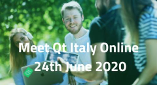 Meet Qt Live, Italy - Jun 24, 2020