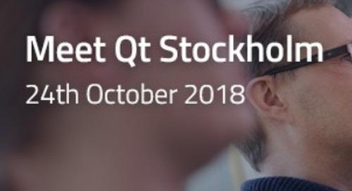 Meet Qt Stockholm  - Oct 24, 2018