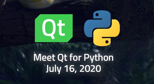 Embracing Qt for Python - Jul 16, 2020