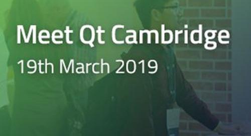 Meet Qt Cambridge  - Mar 19, 2019