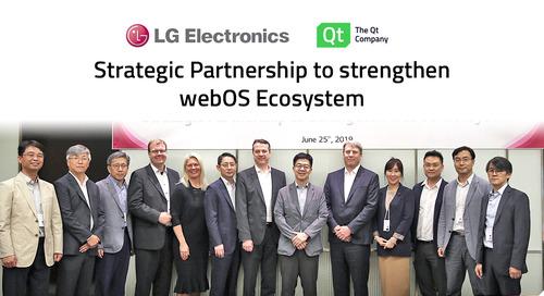 新闻稿 | Qt和LG电子携手推广webOS,成为跨汽车、机器人和智能家居领域的综合性开发平台