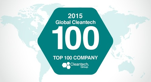 "Phononic is Named in the 2015 Global Cleantech 100 & as Winner of the ""Industrial Innovation Company of the Year"" Award"
