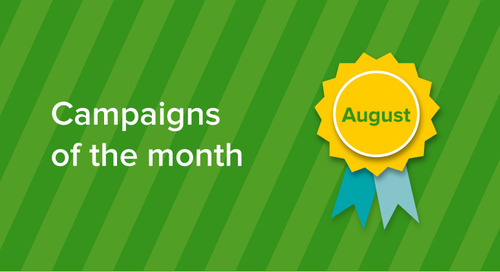 Our campaigns of the month: August 2017