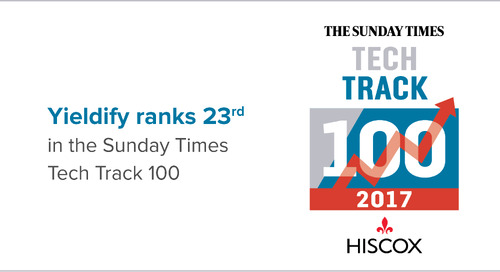 Yieldify ranks 23rd in the Sunday Times Tech Track 100