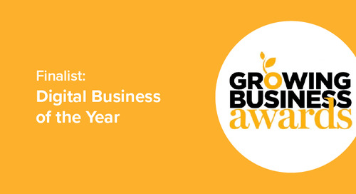 We're a finalist for the Amazon Growing Business Awards 2017!