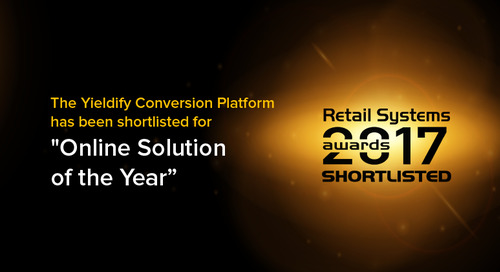 Yieldify is shortlisted for a Retail Systems Award!