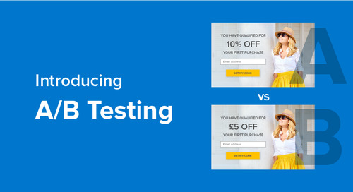 Get results with easy A/B testing for the Yieldify Conversion Platform