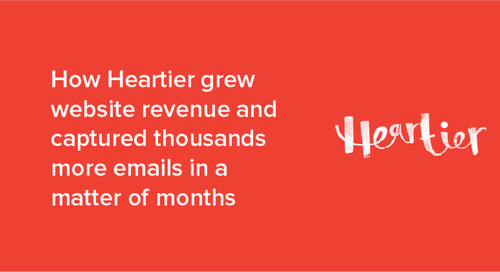 How Heartier grew website revenue and captured thousands of leads