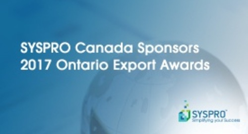 SYSPRO Canada Sponsors 2017 Ontario Export Awards