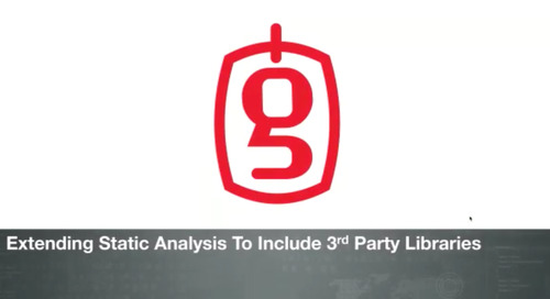 On-Demand Webinar: Extending Static Analysis to Include Third Party Libraries