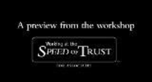 Preview - The Speed of Trust