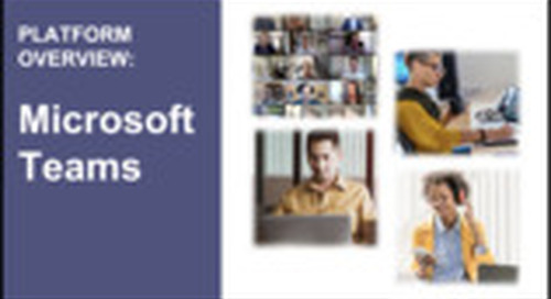 Platform Overview: Microsoft Teams