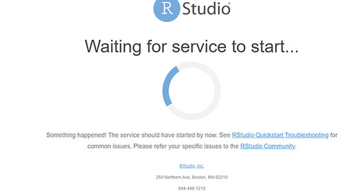 RSConnect QuickStart Issue - Waiting for service to start...