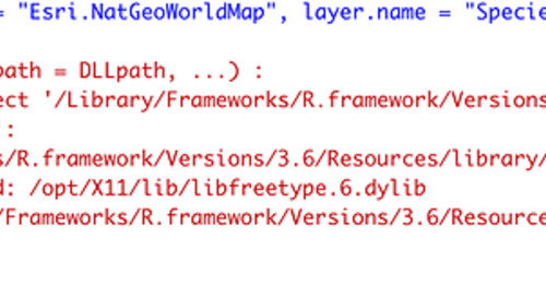 Error in mapview()