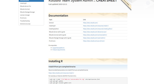A cheatsheet for the R Admin and sys-admin