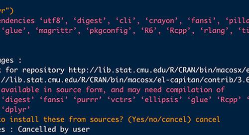R 3.6.2 package installation error