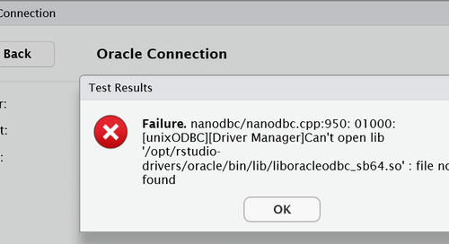 RStudio Connect QuickStart - Oracle connection issue