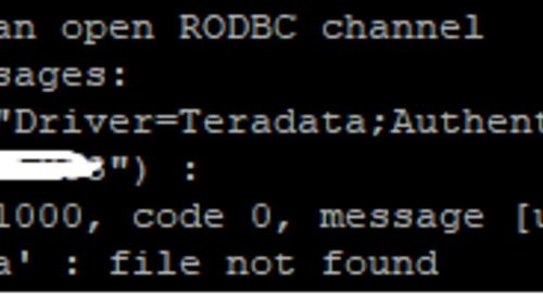 Help with this [RODBC] ERROR: state 01000, code 0, message [unixODBC][Driver Manager]Can't open lib 'Teradata' : file not found