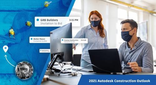 Autodesk U.S. Construction Outlook 2021 Report Finds Commercial Bidding Activity Has Surpassed Pre-Pandemic Levels