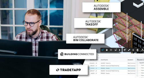 Over 350,000 Projects Turn to Autodesk Construction Cloud for Preconstruction Workflows